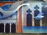 Mosaic in the textile area, upper level, City Centre
