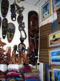 Most of the souvenirs are Indonesian, Indian, or Sri Lankan imports