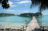 The water villas on the eastern shore of Paradise Island were still under repair from the Tsunami