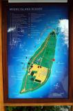 Map of the island, large by Maldivian standards