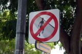 No Jaywalking sign, Singapore
