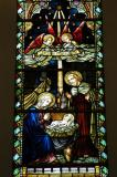 Stained glass, Chijmes, Singapore