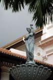 Raffles Hotel fountain
