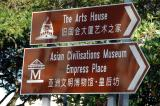 Sign for the Asian Civilisations Museum at Empress Place