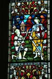 Christchurch Cathedral, stained glass - Joshua and Theophany at Jericho