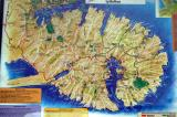 Map of the scenic Banks Peninsula, just south of Christchurch