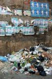 Garbage piled up next to the Mosque of Al-Maridani