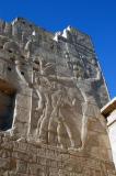 Ramses III smiting his enemies on the Syrian Gate