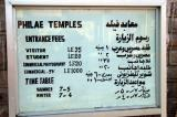 Philae Temple entrance fees