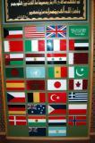 Flags of the Gulf War allies against Iraq