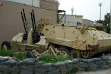 Iraqi anti-aircraft guns and armored vehicle
