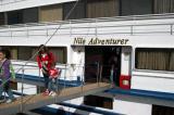 Disembarking at Edfu