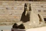 Sphinx outside the Temple of Edfu