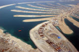 The tunnel between the stem and the outer ring being built, Palm Jumeirah