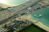Nakheel sales center and the bridges to the Palm Jumeirah
