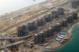 Apartment complexes along the stem of Palm Jumeirah
