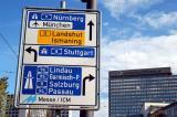 Autobahn signs, Munich