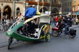 Modern Bicycle Rickshaws, Marienplatz