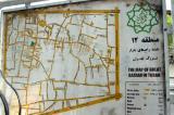 Map of Tehran Bazaar