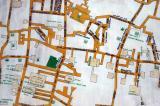 Detail of the map of Tehran Bazaar