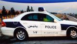 Iranian police car (on a billboard)