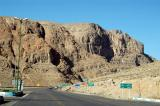 The road through the mountains from Yazd to Shiraz via Abarqu