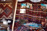 Inside an Iranian nomad tent