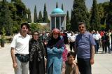 Iranian family visiting the Tomb of Sa'di during No Ruz
