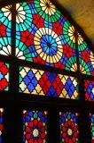 Stained glass window, winter prayer hall