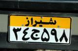 Shiraz license plate