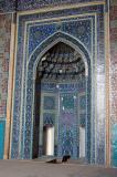 Tile mihrab, the niche depicting the direction of Mecca