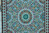Inlaid mosaic tilework, eastern gate, Jameh Mosque