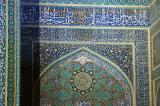 Eastern gate illuminated at night, Jameh Mosque, Yazd