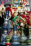 Sheesha pipes, Pottery vessels, Mostafa Khomeiny Square, Yazd