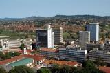View of Uganda from the top of the Kampala Sheraton Hotel