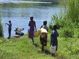 Young girls coming to fetch water from the Nile