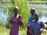 Young girls along the Nile, Jinja