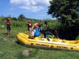 Preparing the 16 foot raft