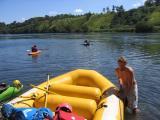 Matt launches the raft