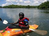 One of the kayakers