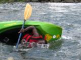 Kayaker takes a roll