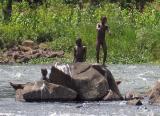 Thumbs up from a Ugandan boy