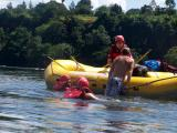 How to reboard in raft in the highly likely event we ended up in the river