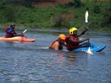Matt demonstrates the kayak assisted recovery