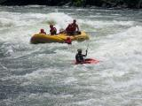 The last big rapid. This time, only Desi departs the raft