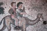 Two boys on a camel