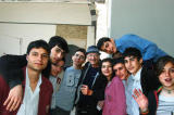 Dad and a group of Turkish high school students waiting for the Harem tour