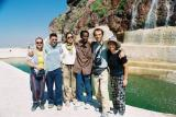 Italian Tourist Group with Solomon at Qal-At Qahira Fortress
