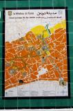 Tile map of the Tunis medina with a walking tour