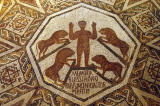 Floor of a chapel representing Daniel surrounded by lions, Borj El Yahoudi, 4th C. AD